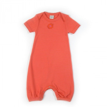Smallstuff - Bodysuit Økotex -  Pink/salmon - Str. 68