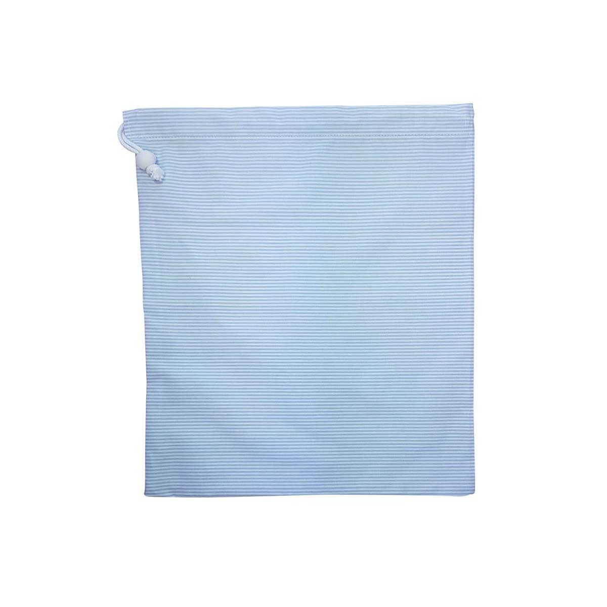 2e079cb825f Frugtpose - Lyseblå med klassisk strib