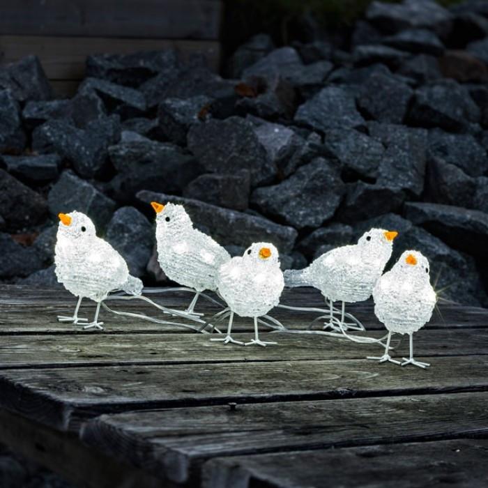 Fantastisk Julelys - Lyskæde - Små fugle - udendørs lyskæde - Kostmide EO85