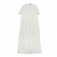 Dåbskjole - Ivory med blonde - lang model