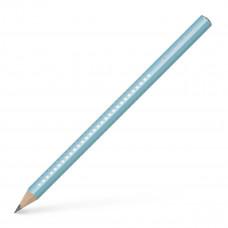 Faber-Castell - Sparkle jumbo blyanter med glimmer - Turkis - 3 stk. (Fåes også med navn)