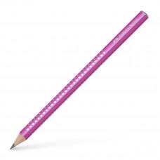 Faber-Castell - Sparkle jumbo blyanter med glimmer - Pink - 3 stk. (Fåes også med navn)