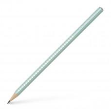 Faber-Castell - Sparkle blyanter med glimmer - Pastel Mint grøn - 3 stk. (Fåes også med navn)