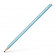 Faber-Castell - Sparkle blyanter med glimmer - Pastel Turkis - 3 stk. (Fåes også med navn)