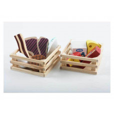 Image toys - Legemad i træ - Mælk og ost i trækasse