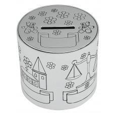 Nordahl Andersen - Sølvplet Sparebøsse - Børnemotiver