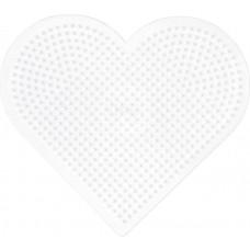 Hama - Midi perleplade - Stor hjerte