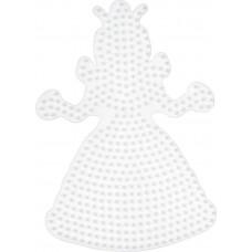 Hama - Midi perleplade - Lyserød Prinsesse