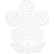 Hama - Midi perleplade - Lyserød Blomst