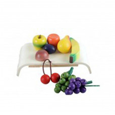 Legemad i træ - Træbakke med blandede frugter