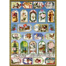 Coppenrath - Kalendergave - 24 gavemærker - Nostalgisk jul