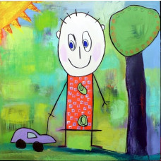 Tusindfryd - Lykønskningskort - Fødselsdagskort - Dreng med bil