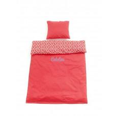 Smallstuff - Baby sengetøj - Rød Flower