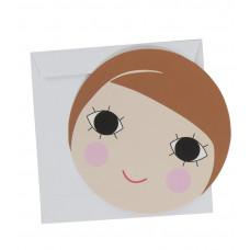 Sebra - Lykønskningskort - Fødselsdagskort - Pige