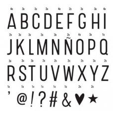 A Little Lovely Company - LIGHTBOX sæt - 85 Basis bogstaver