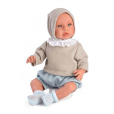 Asi - Baby dukke - Leo 46 cm - Dusty blue shorts