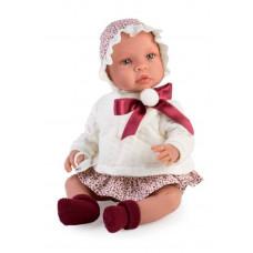 Asi - Baby dukke - Leonora 46 cm - Rød mønstret liberty kjole