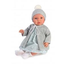 Asi - Baby dukke - Leonora 46 cm - Blå liberty kjole