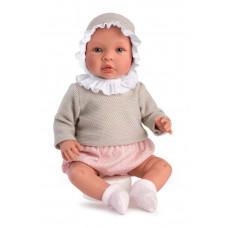 Asi - Baby dukke - Leonora 46 cm - Dusty rose mamelukker