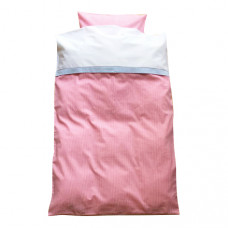 Junior sengetøj - klassisk tern - Lyserød