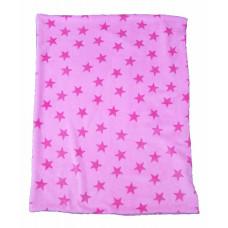 Babytæppe - Lækker blød luksus fleece - Rosa