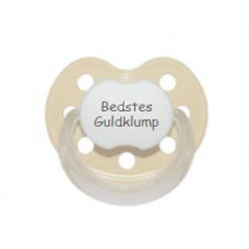 Baby Nova - Anatomisk sut - Str. 2 (6-36 mdr.) - Bedstes Guldklump - 1 stk. - latex - beige