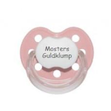 Baby Nova - Anatomisk sut - Str. 2 (6-36 mdr.) - Mosters Guldklump - 1 stk.- latex - lyserød