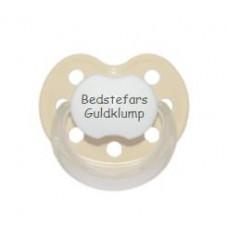 Baby Nova - Anatomisk sut - Str. 2 (6-36 mdr.) - Bedstefars Guldklump - 1 stk. - latex - beige