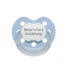 Baby Nova - Anatomisk sut - Str. 2 (6-36 mdr.) - Bedstefars Guldklump - 1 stk. - latex - lyseblå