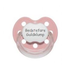 Baby Nova - Anatomisk sut - Str. 2 (6-36 mdr.) - Bedstefars Guldklump - 1 stk. - latex - lyserød
