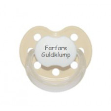 Baby Nova - Anatomisk sut - Str. 2 (6-36 mdr.) - Farfars Guldklump - 1 stk. - latex - beige