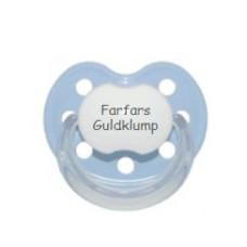 Baby Nova - Anatomisk sut - Str. 2 (6-36 mdr.) - Farfars Guldklump - 1 stk. - latex - lyseblå