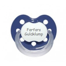 Baby Nova - Anatomisk sut - Str. 2 (6-36 mdr.) - Farfars Guldklump - 1 stk. - latex - mørkeblå
