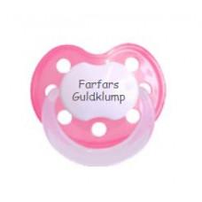 Baby Nova - Anatomisk sut - Str. 2 (6-36 mdr.) - Farfars Guldklump - 1 stk. - latex - pink