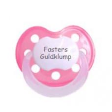 Baby Nova - Anatomisk sut - Str. 2 (6-36 mdr.) - Fasters Guldklump - 1 stk. - silikone - pink