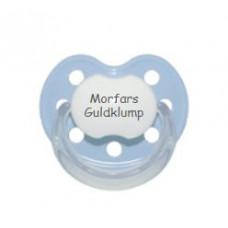Baby Nova - Anatomisk sut - Str. 2 (6-36 mdr.) - Morfars Guldklump - 1 stk. - latex - lyseblå