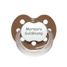 Baby Nova - Anatomisk sut - Str. 2 (6-36 mdr.) - Mormors Guldklump - 1 stk. - latex - brun