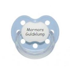 Baby Nova - Anatomisk sut - Str. 2 (6-36 mdr.) - Mormors Guldklump - 1 stk. - latex - lyseblå