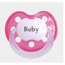 Baby Nova - Anatomisk sut - Str. 2 (6-36 mdr.) - Fasters Guldklump - 1 stk. - silikone - fuchsia