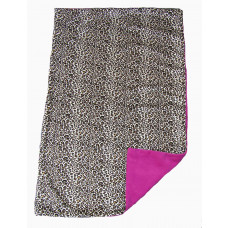 Babytæppe - Minky fleece tæppe - Pink Cheeta