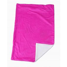 Babytæppe - Minky fleece tæppe - Pink