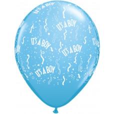 It´s a boy balloner - Barnedåbs og Babyshower balloner - Lyseblå - 10 stk.