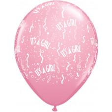 It´s a girl balloner - Barnedåbs og Babyshower balloner - Lyserød - 10 stk.