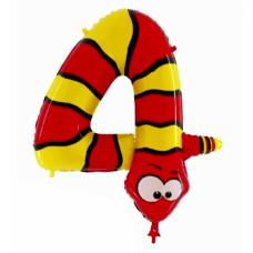 Animaloons tal ballon - Fødselsdags ballon - 4 - Slange