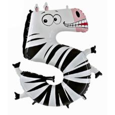 Animaloons tal ballon - Fødselsdags ballon - 5 - Zebra