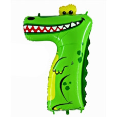 Animaloons tal ballon - Fødselsdags ballon - 7 - Krokodille