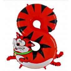 Animaloons tal ballon - Fødselsdags ballon - 8 - Kat