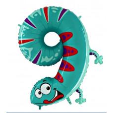 Animaloons tal ballon - Fødselsdags ballon - 9 - Geggo