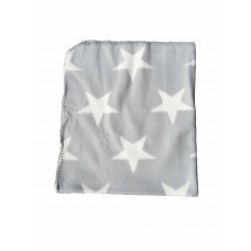 Babytæppe - Fleece tæppe - Grå stjerner