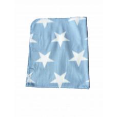 Babytæppe - Fleece tæppe - Lyseblå stjerner